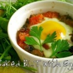 Baked BLT with Egg