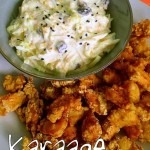Karaage and Coleslaw with Apple and Raisins