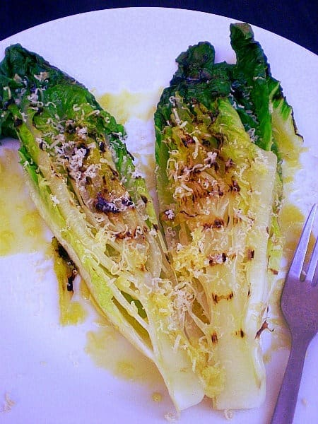 Grilled Whole head of Romaine Lettuce | Feats of Feasts | A Food Blog