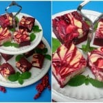Red Velvet Cheese-Marbled Brownies
