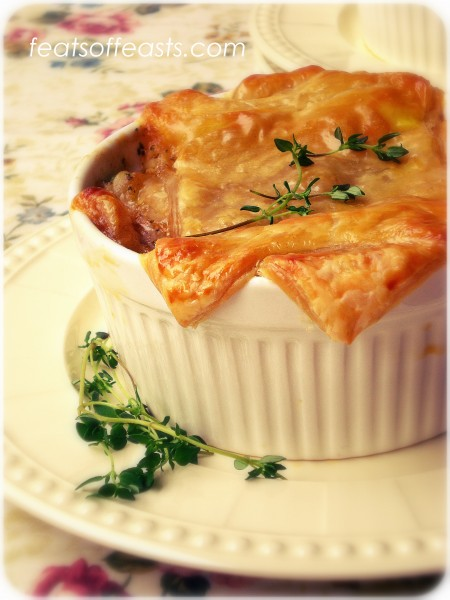 Puff Pastry – Cheddar Chicken Pot Pies | Feats of Feasts | A Food ...