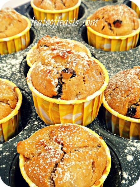 apple, raisin muffin 1