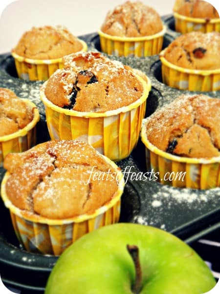 apple, raisin muffin 2