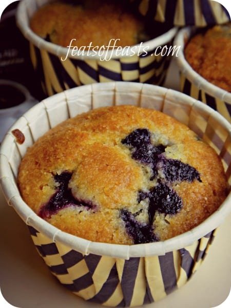 blueberry cornmeal muffins 2