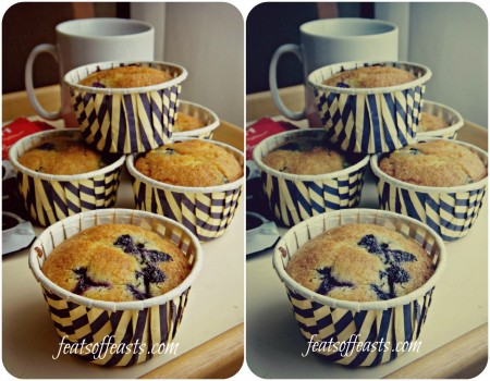 blueberry cornmeal muffins Collage w