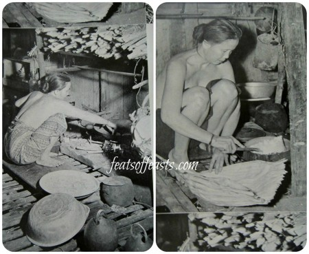 iban women cooking Collage