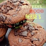 Chocolate Chunk Muffins with Reese's Peanut Butter Cups