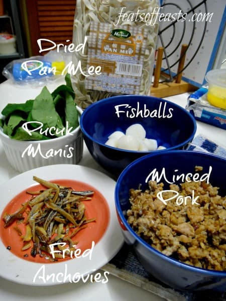 pan mee ingredients