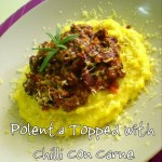 Polenta Topped with Chilli Con Carne