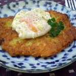 Eat More Vege – Potato Latkes with Poached Egg
