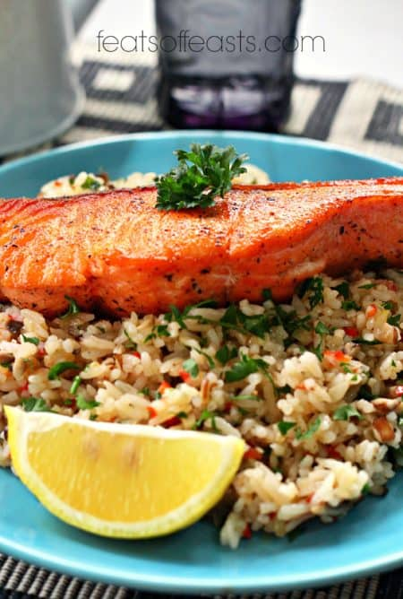 rice and salmon
