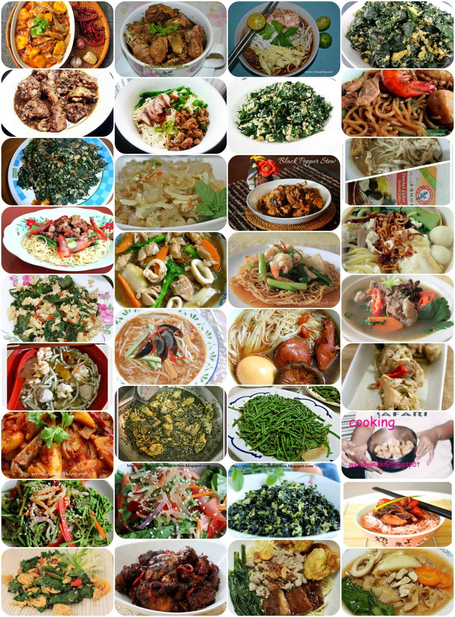 Mff sarawak dishes collage feats of feasts a food blog mff sarawak dishes collage forumfinder Images