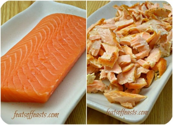 salmon collage w