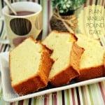 Plain Vanilla Pound Cake