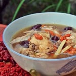 Chicken Soup with Goji Berries and Ginger Wine